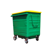 1100L-6-4 Galvanized Metal Garbage Bin